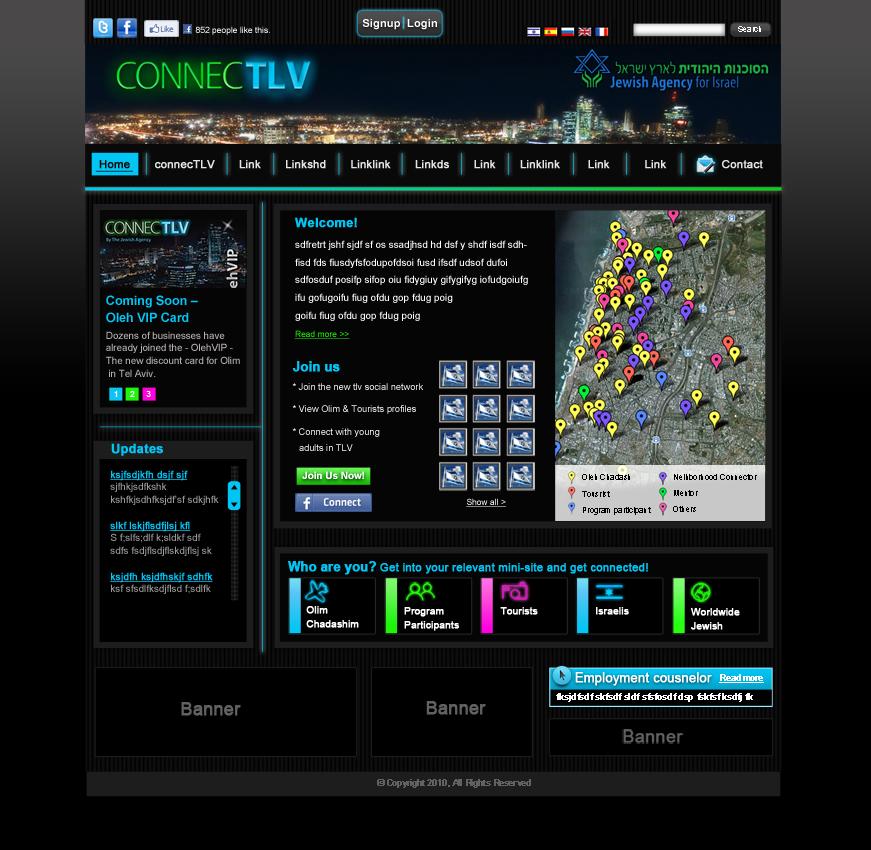 עיצוב אתר connecTLV