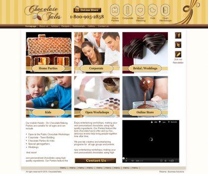 עיצוב אתר Chocolate Tales