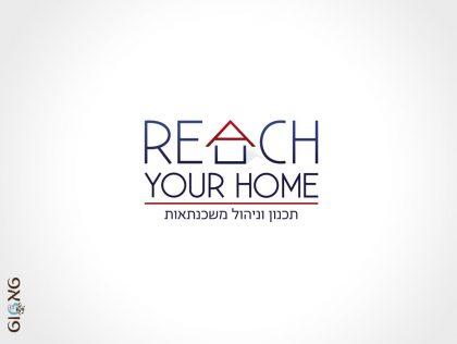 עיצוב לוגו Reach your home