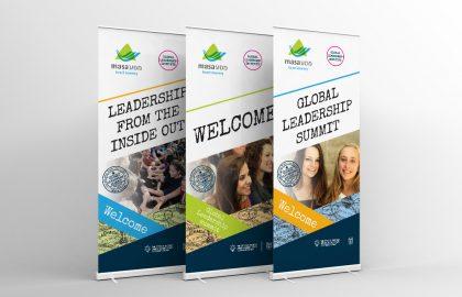 עיצוב רולאפים לכנס מנהיגות של מסע